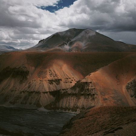 Ladakh Jammu And Kashmir India Mountains Cloudy Landscape IPhone Iphoneonly IPhoneography Travel Travel Photography