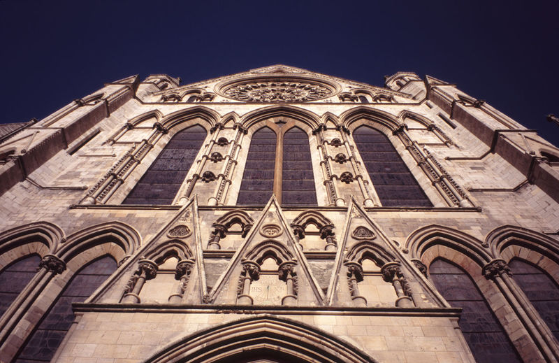 upward view of York minster Arch Architecture Cathedral Cathedral Church Clear Sky England Façade Famous Place Landmark Prayer Low Angle View Minster Place Of Worship Religion Spirituality Stone Tower Uk York Yorkshire