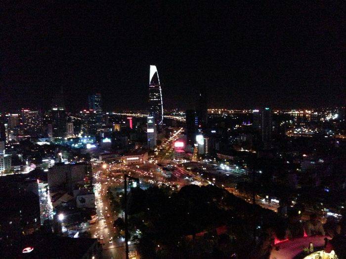 "Ho Chi Minh city from sky bar ""Chill"" @ AB tower"