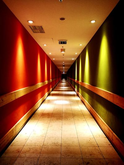 The Way Forward Indoors  Lighting Equipment Architecture No People Corridor Built Structure Illuminated