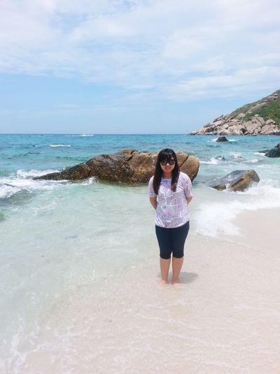 Me and sky, beach. Relaxing Enjoying Life Beaatiful Bech