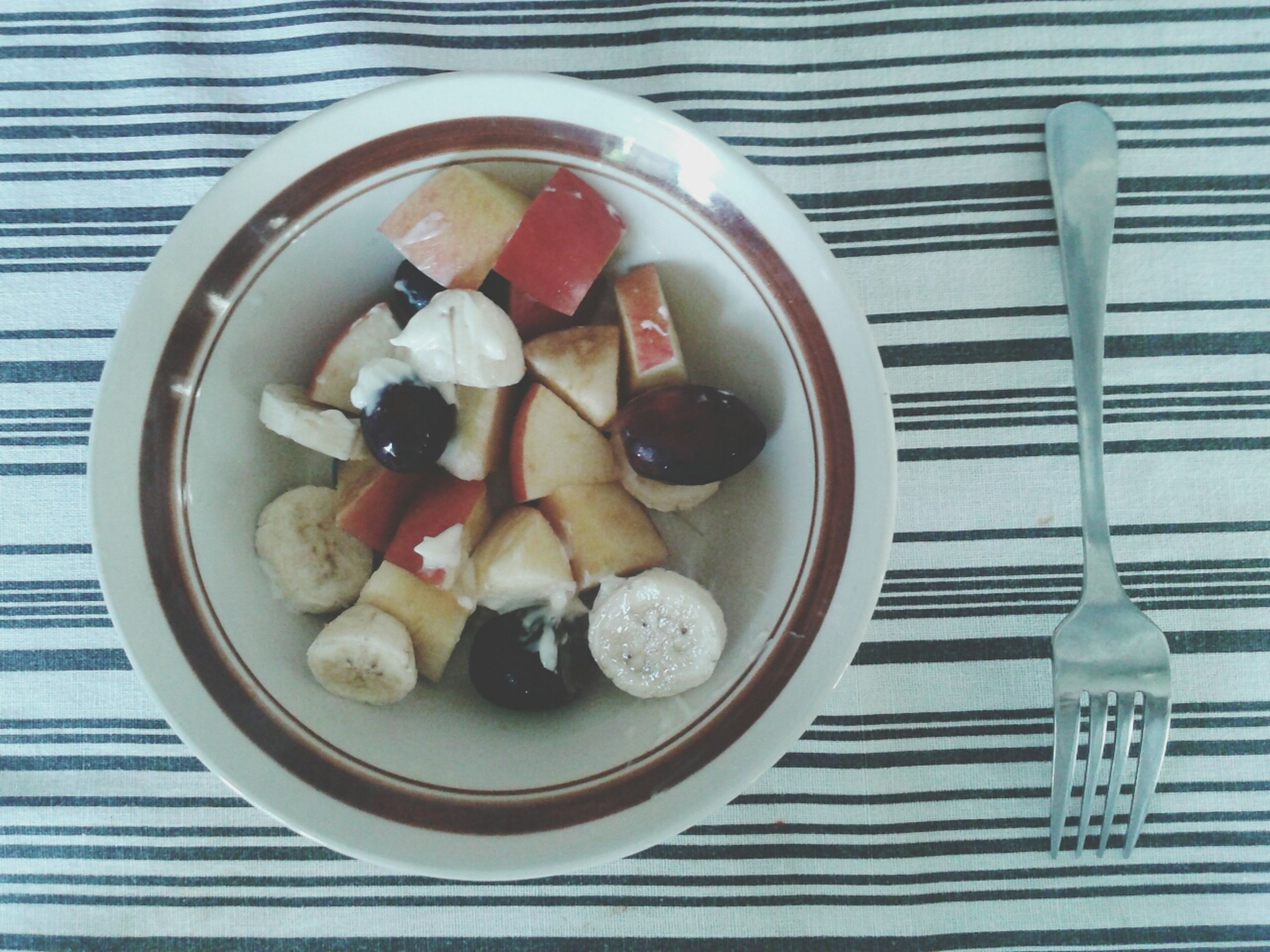 food and drink, food, freshness, plate, indoors, healthy eating, bowl, ready-to-eat, still life, high angle view, table, serving size, fruit, indulgence, close-up, directly above, spoon, served, no people, sweet food