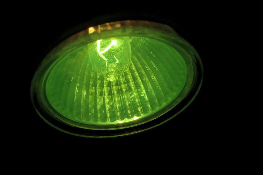 Black Background Close-up Couleur Verte Green Color Green Light Grün Halogen Lamps Halogen Lights Halogene Halogeno Illuminated Incandescent Lamp Light Lighting Equipment Luz Verde Night No People зеленый أخضر الهالوجين グリーン ハロゲン 綠 鹵素 할로겐