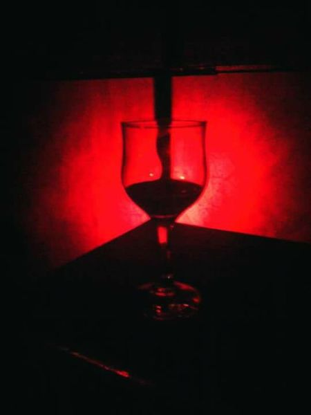 Wine Wine Glass Red Wine Contrast Red Color Black&Red Nightclub Abstract