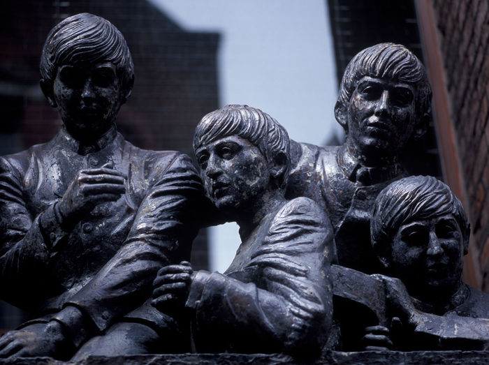 The Beatle Statues in Liverpool Beatle Statue Black Color Close-up Day Horizontal Human Representation Idols Male Likeness Metal No People Outdoors Pop Musician Popular Sculpture Spirituality Statue The Beatles Weathered Metal