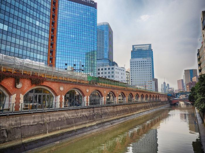 #akihabara #river Architecture Building Building Exterior Built Structure Canal Capital Cities  City City Life Cityscape Cloud Cloud - Sky Day Modern No People Office Building Outdoors Reflection Sky Skyscraper Tall Tall - High Travel Destinations Water