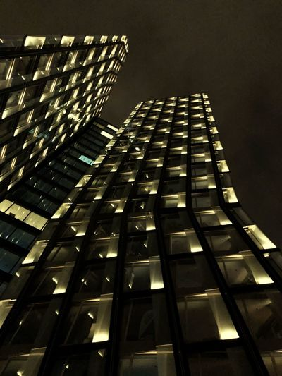 Built Structure Architecture Building Exterior Low Angle View Night Building City Illuminated Tall - High Modern Sky Skyscraper Tower Lighting Equipment Office Office Building Exterior