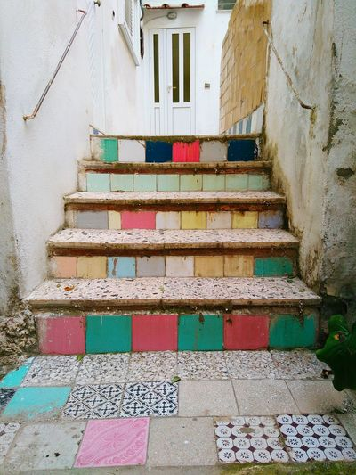 Stairs Coloured Hidden Gems  Home Is Where The Art Is Colour Of Life Italy🇮🇹