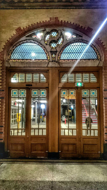 The Door to Travel. Traveling by Train. Train Station Groningen late at night. 19thcentury Design. Light And Shadow, Eye4photography
