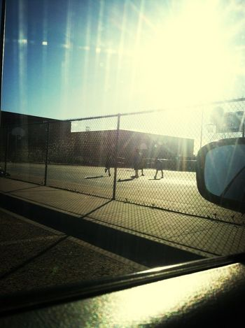 Oh you know just chilling in my car watching my girlfriend play basketball -_-