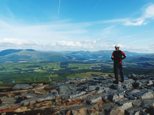 Aonach Mor Aonach Mor EyeEmNewHere Scotland One Person Standing Scenics - Nature Real People Leisure Activity Beauty In Nature Environment Mountain Landscape Outdoors Tranquil Scene
