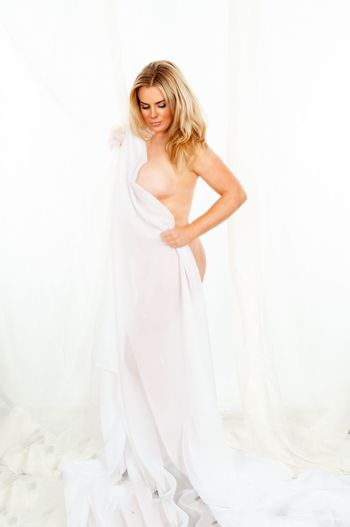 One Person Women Looking At Camera Portrait Wedding Young Women Standing Bride White Color Lifestyles Newlywed Young Adult Event Full Length Celebration Real People Smiling Beautiful Woman Fashion