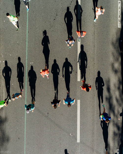 The shadows Shadow Outdoors People Streetphotography Paris Silhouette Eye4photography  Togetherness Marathon Marathon2017 Marathondeparis Marathondeparis2017