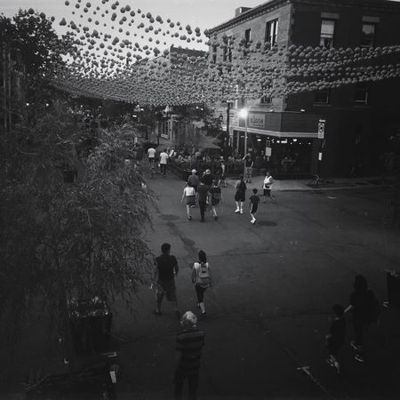 A Saturday night of July in Montreal Street IPhoneography Mobileart Lifestyles NEM Black&white