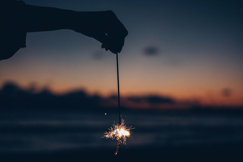 Photograph Life Hand EyeEm Selects EyeEmNewHere EyeEm Best Shots EyeEm Sky Firework Fireworks Sky Sunset Motion Illuminated Nature Silhouette Wet Night Water Orange Color Outdoors No People Cloud - Sky