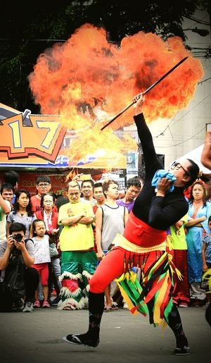 2017 Year of the Fire Rooster Celebration in the Philippines Celebration Fun People Performance Outdoors EyeEmBestPics Eyeem Philippines Canon Eos 1200d Firedancer Firedancersphillipines Yearoftherooster Street Photograpy The Street Photographer - 2017 EyeEm Awards