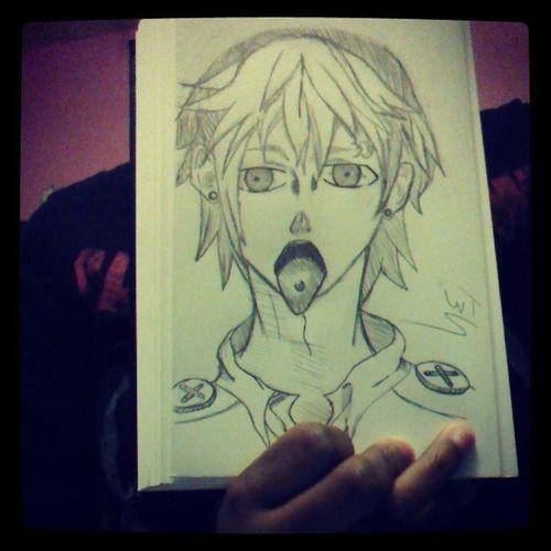 I was speed drawing. :3 Anime Noiz Dmmd DramaticalMurder art sketch piercings kellinquinn smile yes