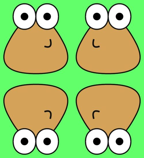 Pou Funny Hello World Cheese! Mirror ★ Pou ▲▼▶◀