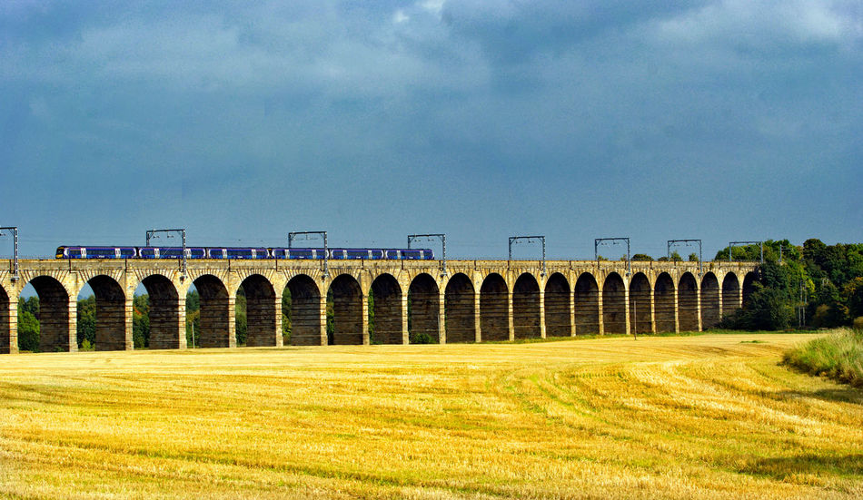This viaduct carries the Glasgow and north bound trains from Edinburgh Transportation Viaduct Precision Bridge - Man Made Structure Rail Transport Railway Railway And Trains Railway Bridge Railway Bridge Daytime Railway Track Viaduct And Train Viaduct Arch