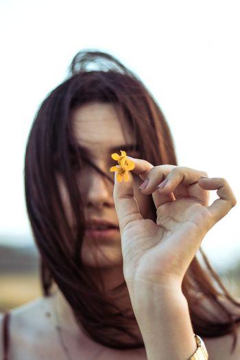 Bloom. Human Hand Young Women Women Pets Beautiful Woman Close-up Blooming Petal Flower Head Pollen In Bloom Fragility Dahlia
