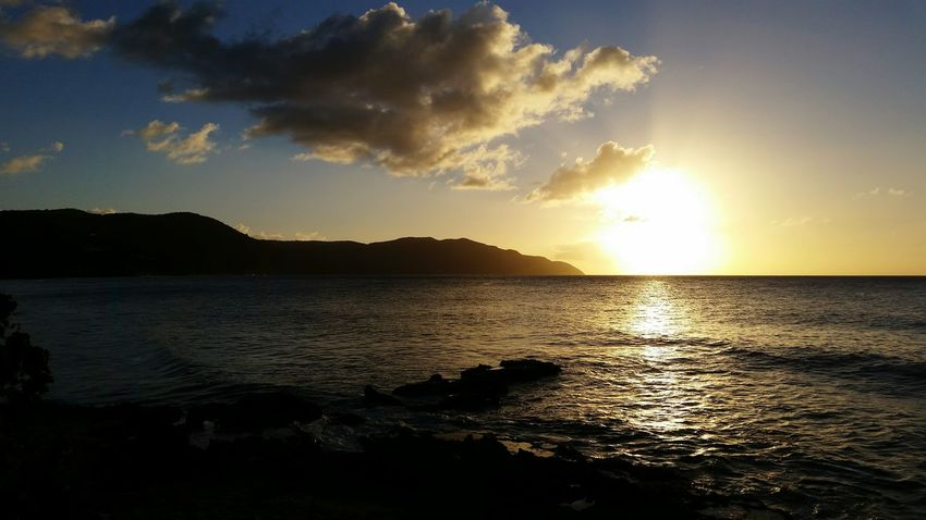 RePicture Travel Caribbean Stcroix VirginIslands Sunset Sunset_collection Sunset Silhouettes Sunsets Sunset And Clouds  Sunsetlover