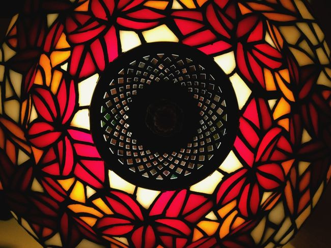 Pattern Geometric Shape No People Indoors  Tiffany Lamp Light And Shadow