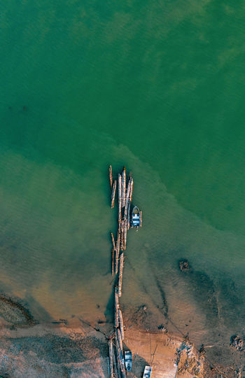 High Angle View Water Beauty In Nature Tranquility Nature Scenics - Nature Day Tranquil Scene No People Land Outdoors Non-urban Scene Plant Sea Beach Idyllic Environment Turquoise Colored Ecosystem  Boat Pier Dock Wood Sunset EyeEm Gallery