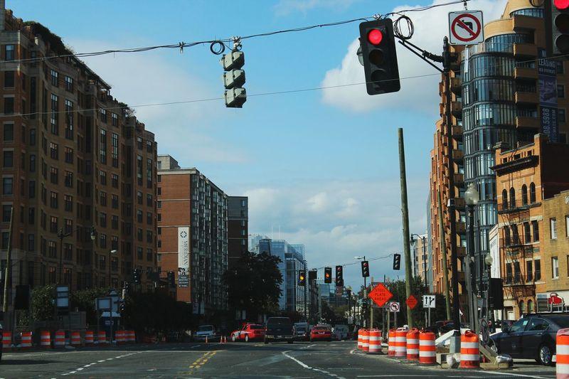 City City Street Street Stoplight Outdoors Red Light Horizontal City Life Sky Day No People
