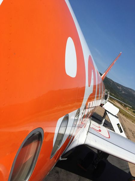 EyeEm Selects Transportation Mode Of Transport No People Airplane Day Air Vehicle Outdoors easyjet, Figari, corse, Corsica,