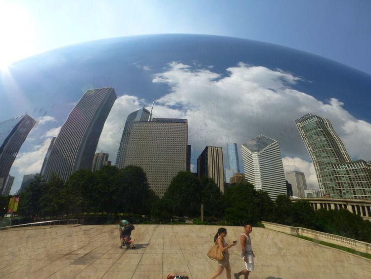 Abstract Art Abstract Sculpture Chicago Chicago Architecture Chicago Bean Eyeem Tourist Mirror Mirror Art Reflection Reflections Summer The Bean Chicago The Week On EyeEm Blue Wave
