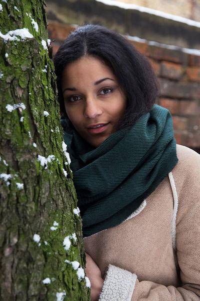 Winter fashion photoshoot Beautiful Woman Coat Nature Outdoors Portrait Scarf Snow Tree Winter Winter Fashion Young Women