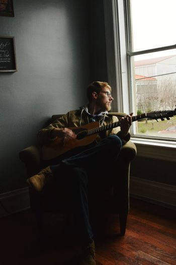 I love a musician. Plaid Hipster Relaxed Contemplative Solitude Evening Morning Moody New Apartment Empty Places Winter Fall Cold Weather Cozy Lowlight Low Light Musician Plucking An Instrument Living Room Sitting Musical Instrument Jazz Music Guitar Music Full Length Home Interior Guitarist Acoustic Guitar Musical Instrument String Acoustic Music String Instrument The Portraitist - 2019 EyeEm Awards