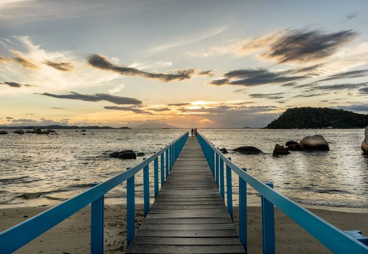 Sea Beach Pier Sunset Water Nature Landscape Beauty In Nature Relaxation Enjoying The Sun Enjoying Life Hanging Out