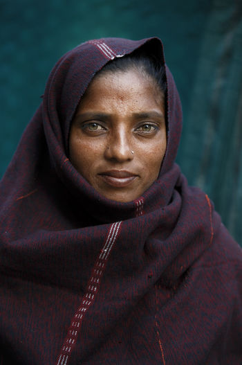 Portrait of mid adult woman outdoors