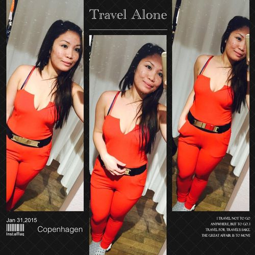 lady in red That's Me Taking Photos Selfie ✌ Redsuit