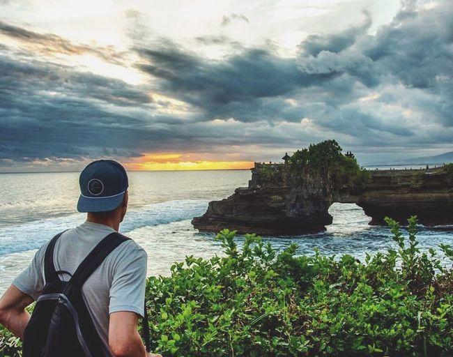 Long Goodbye Hardtoleave Bali Sunset Temple Ocean Rocks