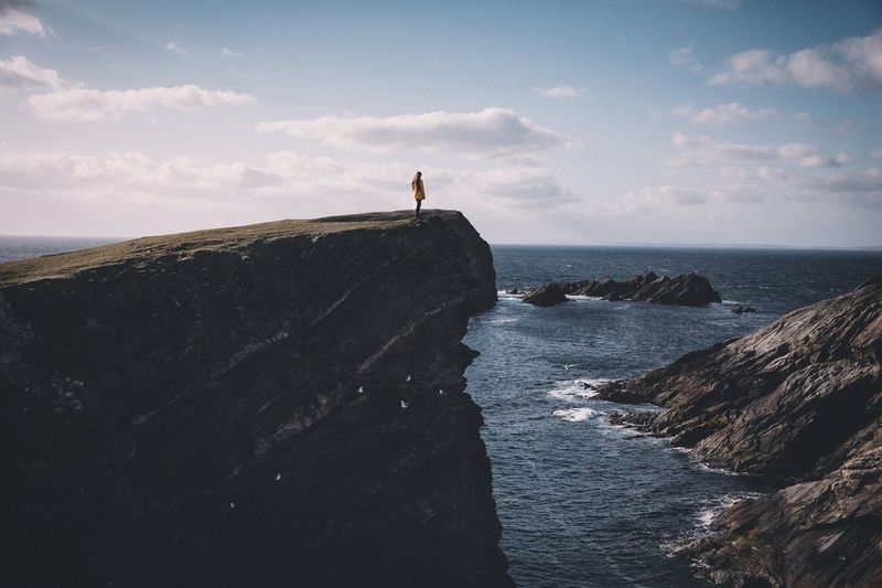 On the cliff Vacations Sunset Traveling Rural Mountain VSCO Outdoors Nature Exploring Landscape EyeEm Best Shots Vscocam Travel Destinations Photography Travel Explore Earth Shetland