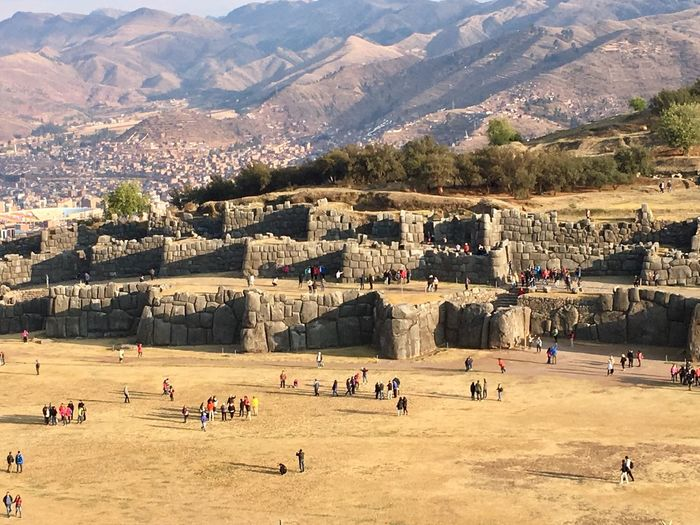 Standing Cusco Sacsayhuaman Large Group Of People Mountain Travel Destinations Tourism Landscape Outdoors Mountain Range Nature Day Architecture People Animal Themes Adult Adults Only