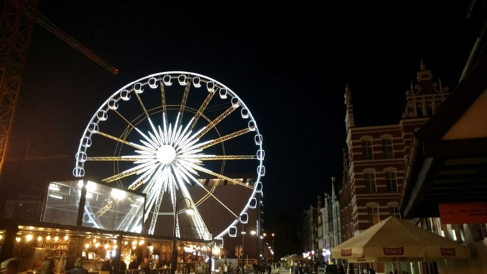 Amusement Park Ferris Wheel Low Angle View No People Sky Night Illuminated Outdoors Nightlife Gdansk, Poland Gdansk Old Town Gdansk Poland The Street Photographer - 2018 EyeEm Awards