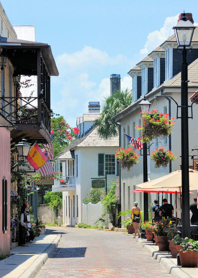 St. Augustine, Fl. is a beautiful place to visit, with many photo ops available Quiet Scenic St. Augustine, FL  Architecture Building Exterior Built Structure City Day Florida Historic Nature No People Old Outdoors Pastel Colors Plant Serene Sky Tranquil Scene Tree
