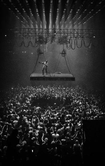 Kanye West Performance Black And White KANYE WEST Concert Photography