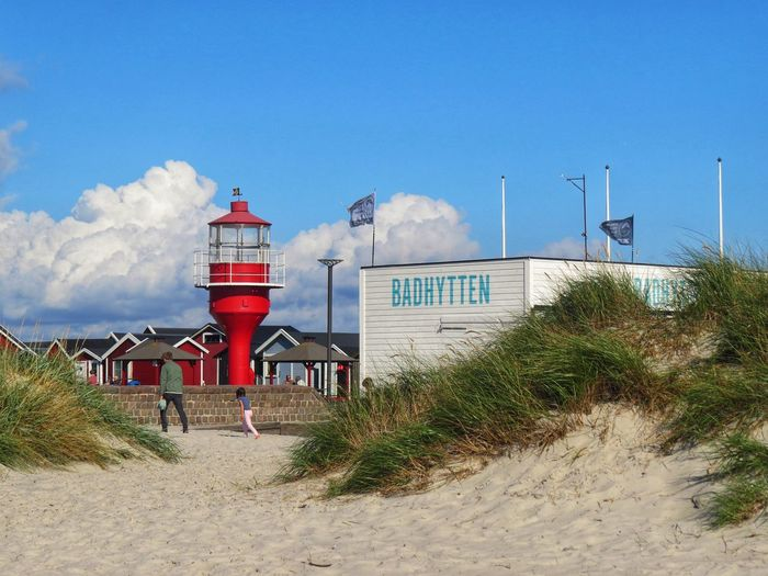 Sky Built Structure Building Exterior Architecture Beach Nature Cloud - Sky Lighthouse Day