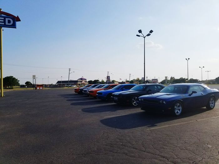 Mopar Gang Hanging Out Rainbow Colors Having A Good Time My Ride Mopar Mopar_or_no_car Cruise