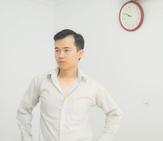 Asian Boy Asianmen Clock Men Minimalism One Person Time White Background Young Adult Young Men
