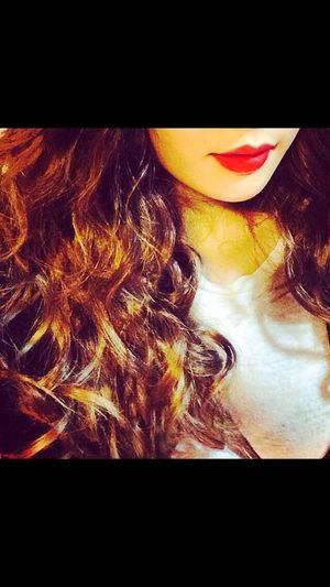 Hyuna 4minute Lips Redlips Red Curly Hair Curls Look Daily Dailylook
