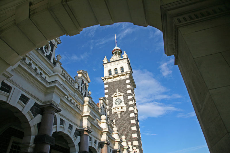 Dunedin Dunedin New Zealand Station Architecture Building Exterior Built Structure City Clock Cloud - Sky Day Dunedin Station Edwardian Edwardian Architecture History Low Angle View New Zealand Outdoors Railway Station Religion Sky Travel Destinations