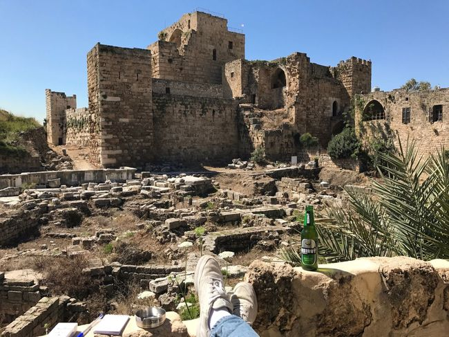 It's good to be a local Byblos Castle Crusaders Landscape View Archaeology Architecture History Ruins Lebanon Tourism Chilling Serenity Nofilter Breathing Space