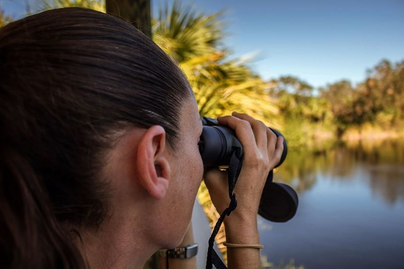 Headshot One Person Young Adult Close-up Real People Nature Tree Outdoors Day Sky Adult Blur Bokeh Binoculars Florida Water View