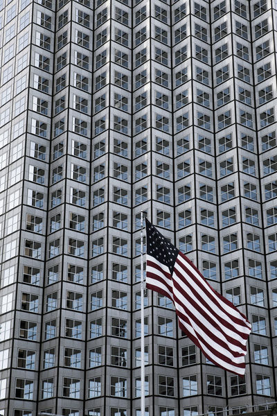 Buildings and architectural details in Miami, Florida. Architecture Buildings City Flag Florida Miami Miami, FL Modern Architecture Office Building Office View Perspective Skyscape Stars And Stripes Flag Tall Tall - High Town Travel Travel Photography USA USA FLAG Windows