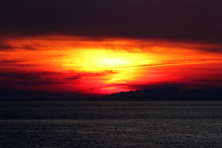 Capri Sunset Beauty In Nature Capri, Italy Dramatic Sky Nature Orange Color Outdoors Sky Sunset Tyrrhenian Sea First Eyeem Photo